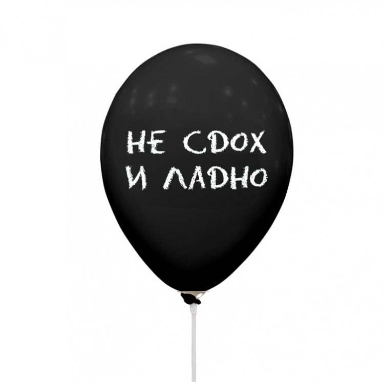 """Шар Оскорбления - """"Не сдох и ладно"""", Декоратор Черные 2 ст"""