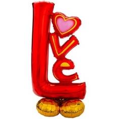 Шар Фигура AIR LOVE красная (в упаковке)