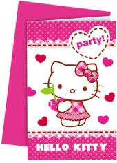 Приглашения Хэллоу - Китти / Hello Kitty Hearts