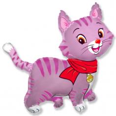 Шар фигура, Мой милый котенок (розовый) / Lovely Cat (в упаковке)
