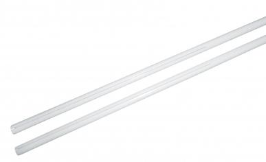 Трубочка полимерная с прорезью 15 см для изготовления флажков