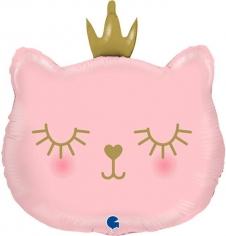 Шар Фигура, Котенок Принцесса, Розовый (в упаковке)