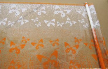 Пленка Феерия оранжево-белая