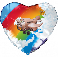 Шар Сердце, Самолет