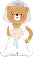 Шар Фигура, Медвежонок Невеста (в упаковке)