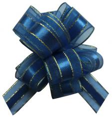 Бант-шар Текстиль С золотой полоской
