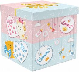 Коробка для воздушных шаров Гендер Пати, Голубой / Розовый