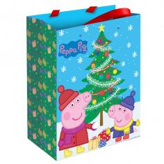 Пакет подарочный Пеппа зимой