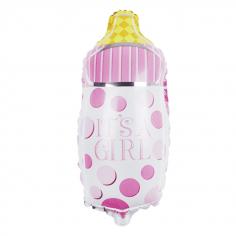Шар Фигура Бутылочка для малышки, Розовый (в упаковке)