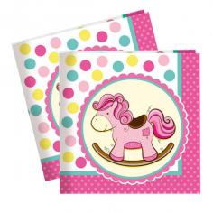 Салфетки Лошадка Малышка розовая 20шт