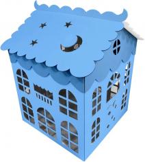 Коробка для воздушных шаров Домик, Голубой
