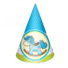Колпачок Лошадка Малыш голубая 6шт