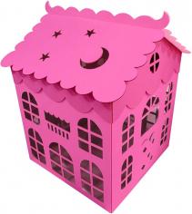 Коробка для воздушных шаров Домик, Розовый