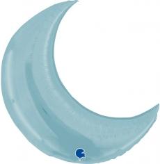 Шар Фигура, Полумесяц, Светло-голубой (в упаковке)