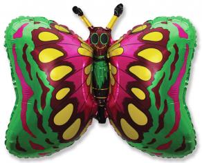 Шар фигура, Бабочка (зеленая) / Butterfly, в упаковке
