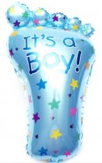 Шар Фигура, Ступня малыша, Голубой