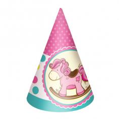 Колпачок Лошадка Малышка розовая 6шт