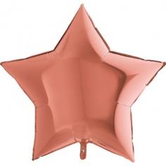 Шар Звезда, Металл Розовое Золото / Rose Gold