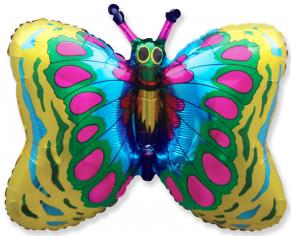 Шар фигура, Бабочка (золото) / Butterfly, в упаковке