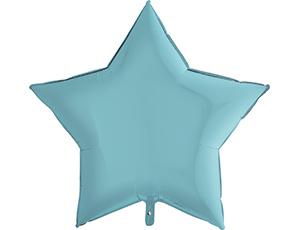 Шар Звезда Пастель Голубой / Blue (в упаковке)