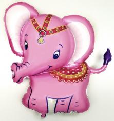 Шар фигура, Слоненок (розовый) / Baby elephant pink (в упаковке)