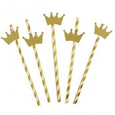 Трубочки для коктейля с золотой Короной