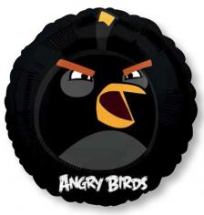 Шар Круг Angry Birds Черная (в упаковке)