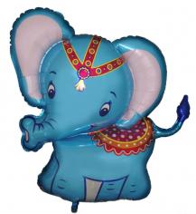 Шар фигура, Слоненок (голубой) / Baby elephant blue (в упаковке)