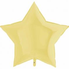 Шар Звезда, Пастель Желтый / Matte Yellow