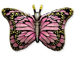 Шар Фигура, Бабочка крылья Розовые (в упаковке)