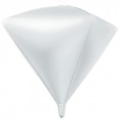 Шар 3D Алмаз, Белый (в упаковке)