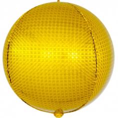 Шар Сфера 3D, Стерео, Золото, Голография (в упаковке)