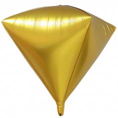 Шар 3D Алмаз, Золото Big (в упаковке)