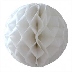 Бумажный шар-соты Белый