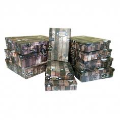 """Набор коробок 10 в 1 """"Деревянный ящик. Винтаж"""" / прямоугольник"""