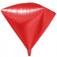 Шар 3D Алмаз, Красный