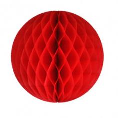 Бумажный шар-соты Красный