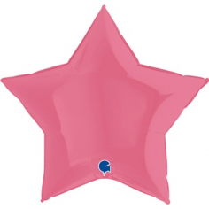 Шар Звезда, Пастель Розовый / Bubble Gum