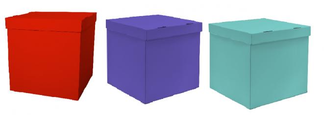 Набор коробок для воздушных шаров, Красный + Лиловый + Тиффани