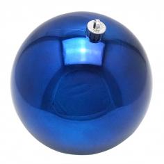 Новогодний шар Темно-синий (блестящий)