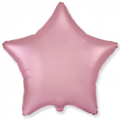 Шар Звезда Розовый Сатин / Pink Satin (в упаковке)