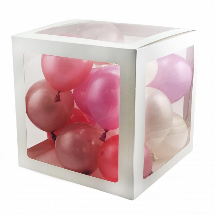 """Набор коробок для шаров 4 в 1 """"Декор"""" Белый"""