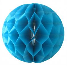 Бумажный шар-соты Синий