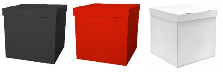 Набор коробок для воздушных шаров, Белый + Красный + Черный
