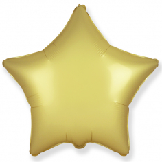 Шар Звезда Золото Сатин / Gold Satin (в упаковке)