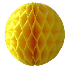 Бумажный шар-соты Жёлтый