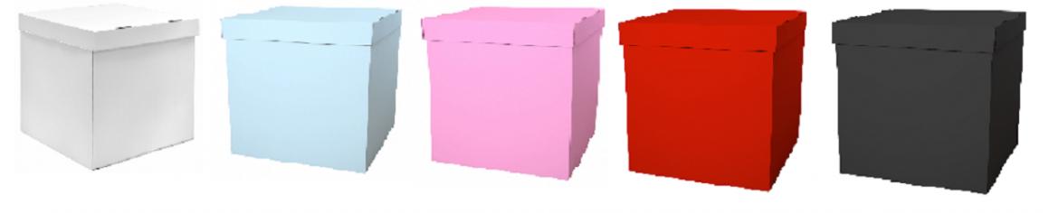 Набор коробок для воздушных шаров, Белый + Голубой + Розовый + Черный + Красный