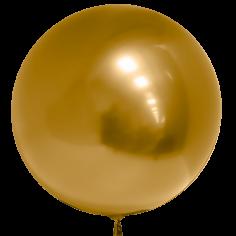 Шар Сфера 3D, Deco Bubble, Золото, Хром (в упаковке)