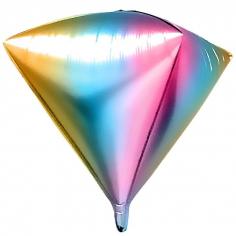 Шар 3D Алмаз, Нежная радуга, Градиент (в упаковке)
