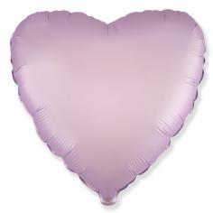 Шар Сердце, Сиреневый Сатин / Lilac Satin (в упаковке)